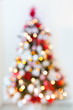Detalii fotografie abstract christmas tree formed by blurred lights
