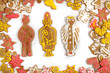 Dettagli della fotografia christmas gingerbread isolated on the white background