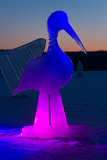Ice sculpture of a stork