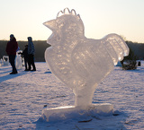 Ice sculptures rooster