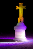 ice sculptures - ice kaplnka