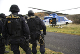 Photo police in helicopter