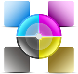 Presentation template in CMYK colours
