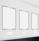 Virtual art gallery with empty frames