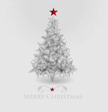 Fotografia Abstract vector christmas tree