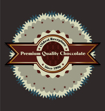 premium choccolate produkt vector štítek