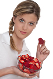 Healthy lifestyle series - Woman holding strawberries