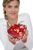 Healthy lifestyle series - Bowl of strawberries