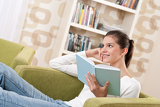 Students - Happy teenager with book