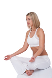 Fitness series - Young woman in yoga position