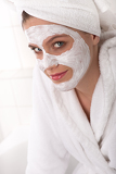 Body care series - Young lady with facial mask