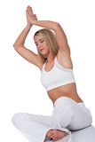 Fitness series - Woman with closed eyes in yoga position