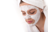 Body care series - Beautiful woman with facial mask