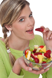 Healthy lifestyle series - Woman eating fruits