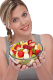 Healthy lifestyle series - Bowl of fruit salad