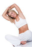 Photo Fitness series - Young woman exercising