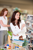 Shopping series - Attractive woman in cosmetics department