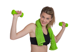Fotografie Fitness - Young sportive woman exercise with weights