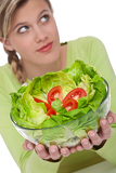 Healthy lifestyle series - Lettuce with tomatoes