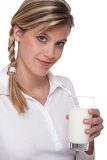 Healthy lifestyle series - Woman with glass of milk