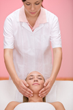 Body care - woman luxury facial massage