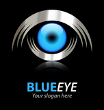 Fotografia Blue eye vector logo