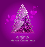 Abstract vector purple christmas tree