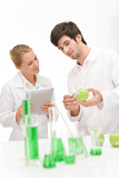 Fotografie Genetic engineering - scientist in laboratory