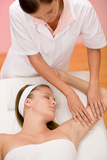 Fotografie Body care - woman hand massage