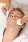 Male cosmetics - cleaning face treatment