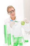 Fotografia Genetic engineering - scientist in laboratory