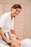 Wellness body care - woman at massage