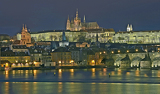 Fotografie Night view to Prague castle