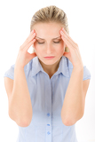 Young woman with headache, migraine