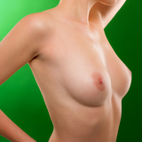 Woman pose naked breasts beautiful body