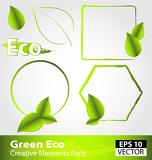 Fényképek Green ecology design elements