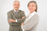 Senior businesspeople Professional pose cross arms