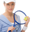Photo Tennis player - young woman holding racket