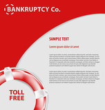 Corporate empty leaflet template