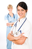 Fotografie Medical team doctor young nurse female smiling