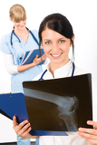 Medical team doctor woman young nurse smiling