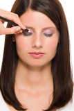 Fotografia Professional makeup model artist make eye lines