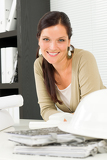 Photo Relax professional architect woman smiling