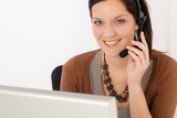Fotografia Professional call center representative woman
