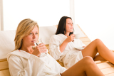 Fotografie Relax luxury spa beauty women enjoy refreshments