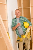 Fotografie Handyman mature professional diy home improvement