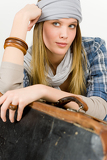Fotografie Fashion model - young woman country style