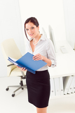 Fotografie Professional businesswoman attractive look in folder
