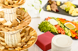 Fotografie Catering buffet served food on banquet table