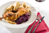 Photo Roasted duck with cabbage and dumpling